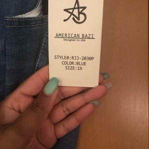 American Bazi Jeans - American Bazi Denim Drawstring Skinny Jeans